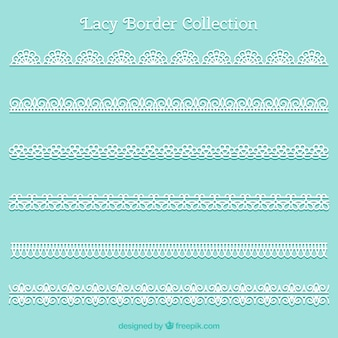 Collection of lace ornamental border