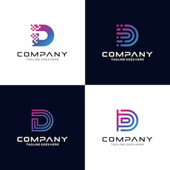 Collection of letter d logo