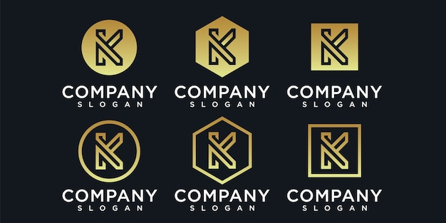 Collection of letter k of colors free templates