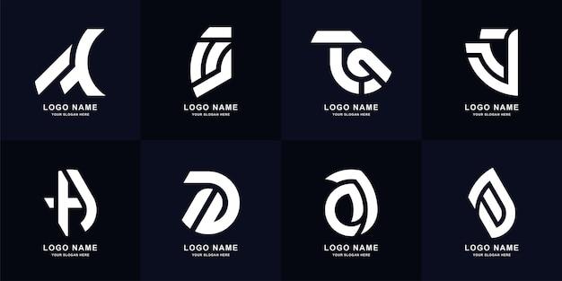 Collection letter a monogram logo template design