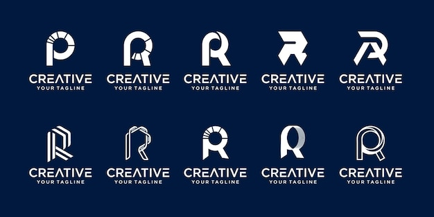Коллекционное письмо r rr логотип значок набор назн для бизнеса моды спорт автомобильный