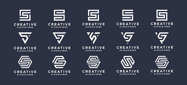 Collection letter s logo design for personal brand, corporate, company.
