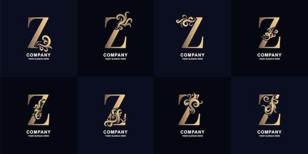 Collection letter z logo with luxury ornament design