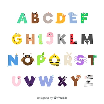 Collection of letters with animals
