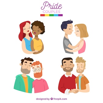 Collection of lgtb pride couple