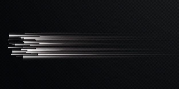 Collection of light speed lines isolated white light electric light light effect png,