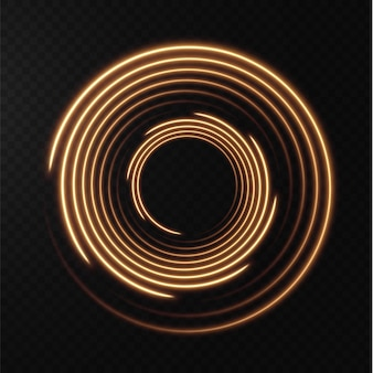 Collection of light yellow halftone lines radial gold vector lines of speed vector illustration