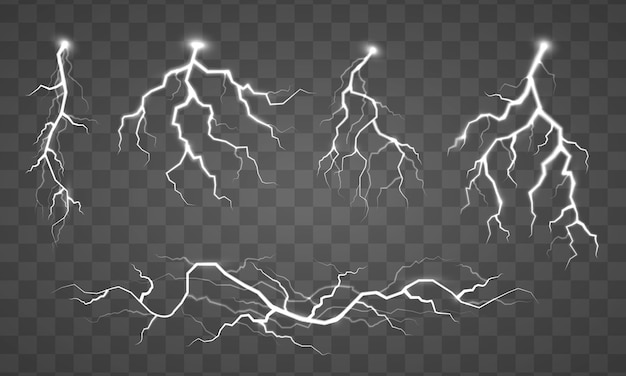 Collection of lightning illustration