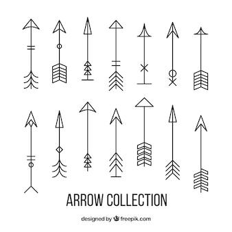 Collezione di freccia lineari