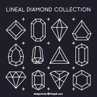 Collection of linear diamonds