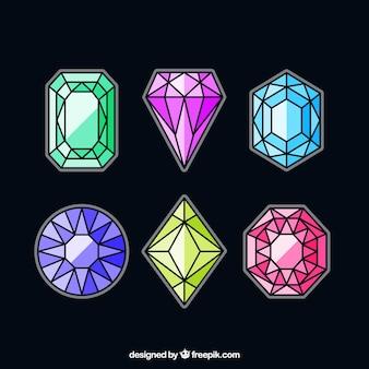 Collezione di gemme lineari