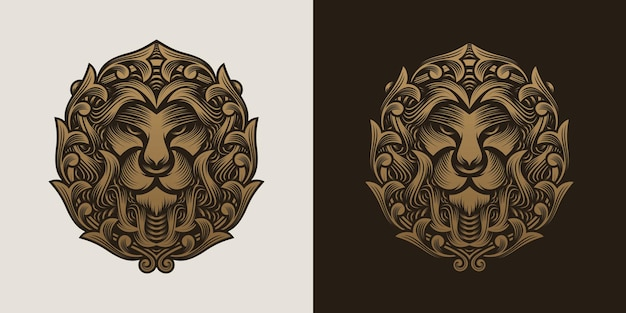 Collection of lion head logo