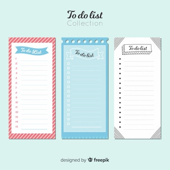Collection of to do lists