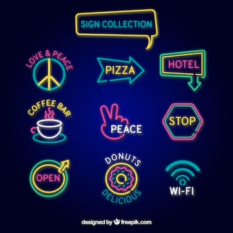 Collection of local neon sign