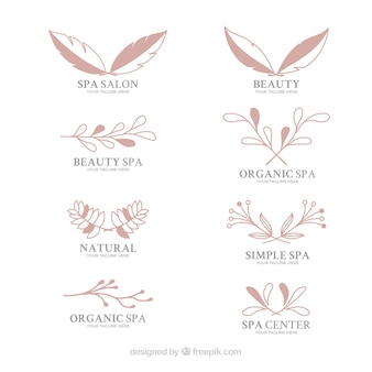 Collection of logotypes for a spa salon