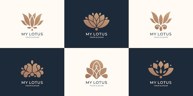 Collection of lotus logo template