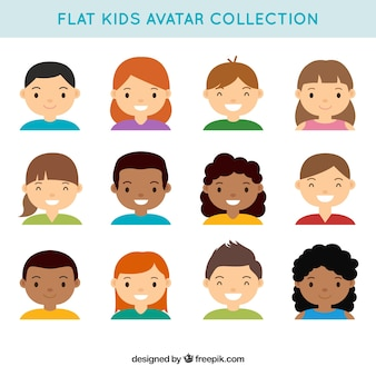 Collection of lovely kids avatars