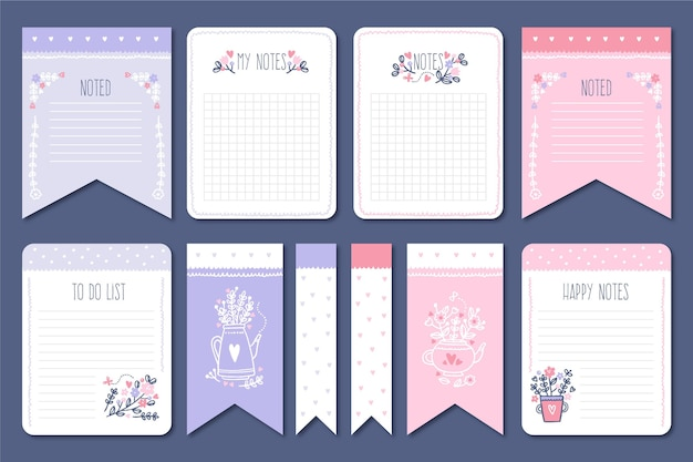 Collection of lovely scrapbook notes and cards