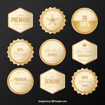 Raccolta di lussuosi adesivi d'oro