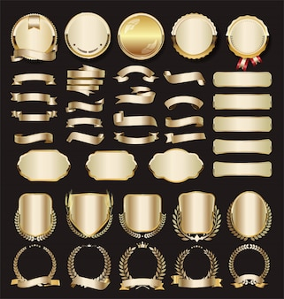 Collection of luxury golden
