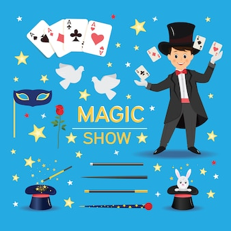 Collection of magician attributes and elements