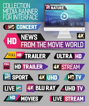 Collection media banner for interface