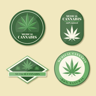 Collection of medical cannabis badges