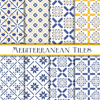 Collection of mediterranean tile patterns