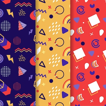 Collection of memphis patterns