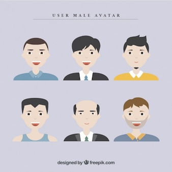 Collection of men user avatar