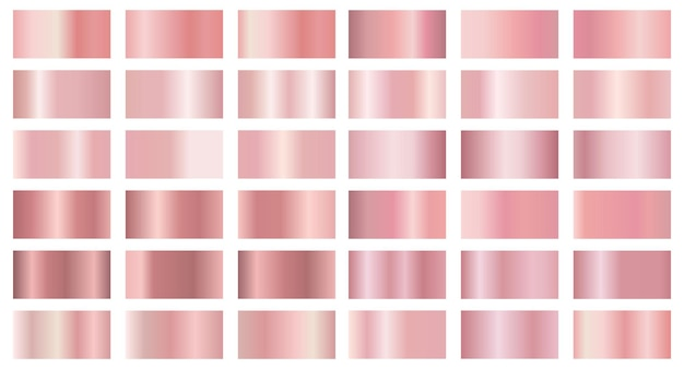 Collection of metallic gradients