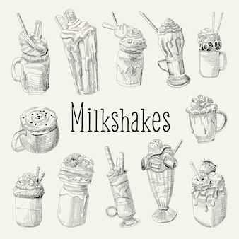 Collection of milkshakes