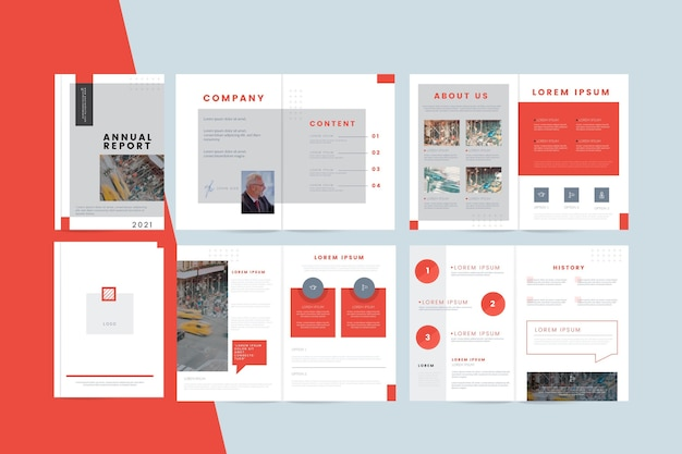 Collection of minimalist business templates