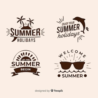 Collection of minimalist summer logos