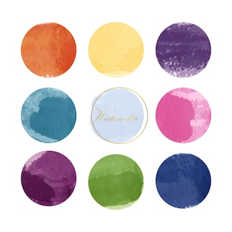 Collection of mixed watercolor paint