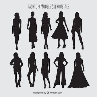 Collection models silhouette