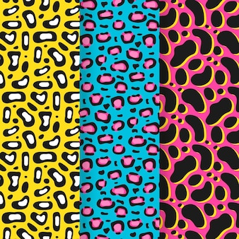 Collection of modern animal print patterns