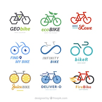 Collection of modern bicycle logos