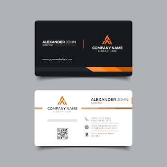 Collection of modern creative business card