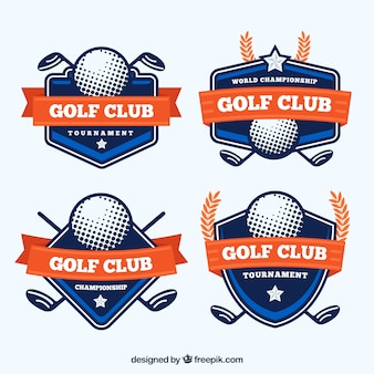 Collection of modern golf labels