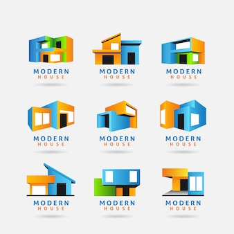 Collection of modern house logo