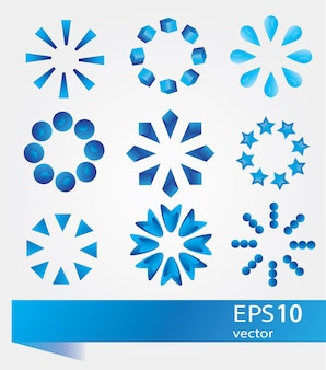 Collection of modern preloaders - vector signs set