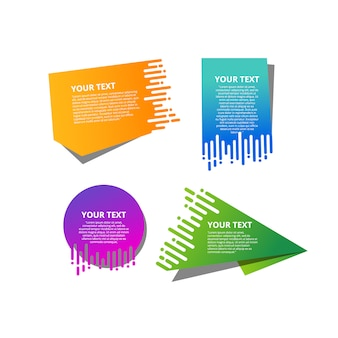 Collection of modern speed sale banner template.