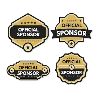 Collection of modern sponsor labels