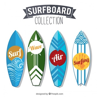 Collection of modern surboard