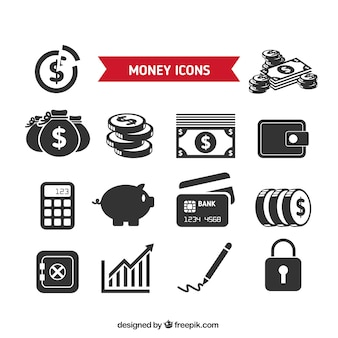 Collection of money icons