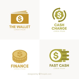 Collection of money logo templates