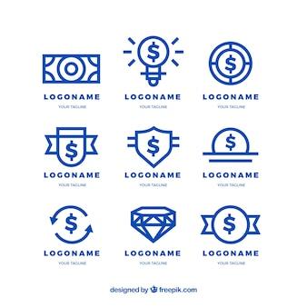 Collection of money logo templates