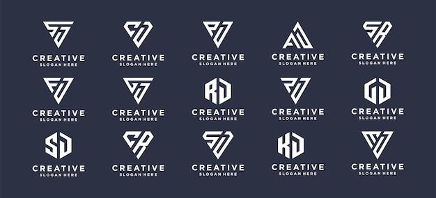 パーソナルブランド、企業、会社のコレクションモノグラム初期ロゴデザイン。