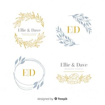Collection of monogram wedding logos